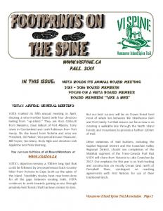Footprints Newsletter September 2015