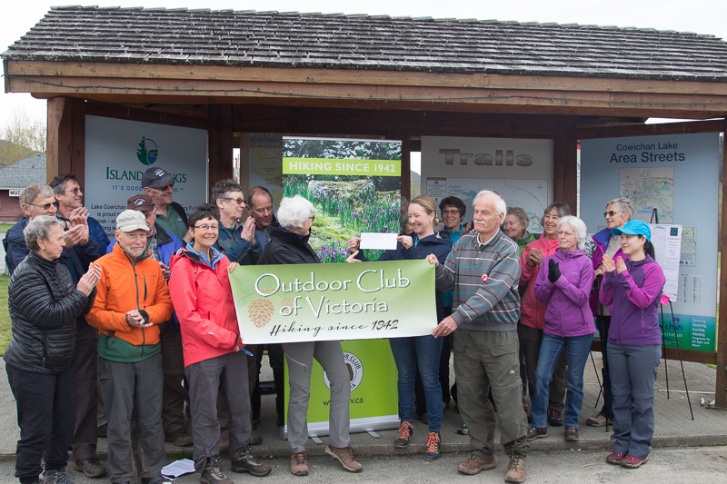 VI Spine Trail receives $20,000 grant from Outdoor Club of Victoria