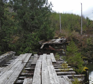 Bridge over the Franklin River is no more